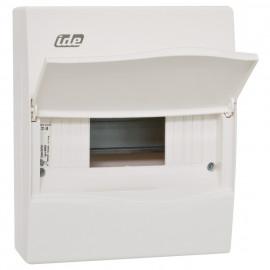 Kleinverteiler, 1 x 8 Module, AP Kunststoff weiß - IDE