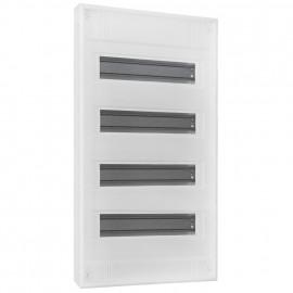 Kleinverteiler, 4-reihig, AP, Höhe 640 mm, 48 + 5 weiß ohne Tür - F-tronic