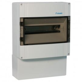 Verteilerkasten, 1-reihig, für 14 Automaten, IP65 Höhe 300 mm, Tiefe 142 mm, Breite 300 mm