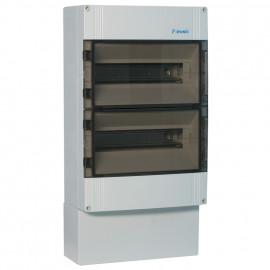 Verteilerkasten, 2 reihig, für 28 Automaten, IP65 Höhe 450 mm, Tiefe 142 mm, Breite 300 mm