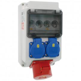 CEE Steckdosenverteilung, LECH bestückt und verdrahtet IP44 - PCE
