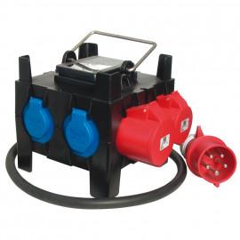 Mobil CEE Steckdosen verteilung 32A Kunststoffgehäuse mit Tragegriff - PCE