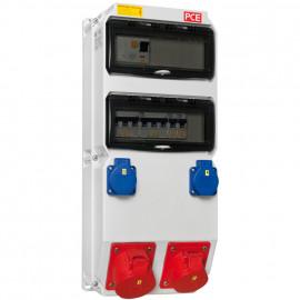 CEE-Steckdosenverteilung, STROBL 20 Module bestückt und verdrahtet - PCE