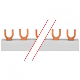 Gabel Phasenschiene, 10 mm², 2-polig, L-Form, für 6 FI/LS-Schalter - Pollmann