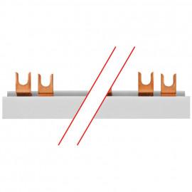 Gabel Phasenschiene, 16 mm², 3-polig, L-Form, für 12 3-pol. oder 36 1-pol. D0-Elemente