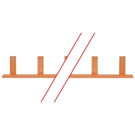 Steg Phasenschiene, 10 mm², 1-polig, L-Form, für 12 LS-Schalter - Pollmann