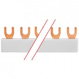 MINILINE SYSTEM, Gabel-Phasenschiene, 3-polig, für 9 LS-Schalter - Pollmann