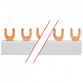 MINILINE-SYSTEM, Gabel-Phasenschiene, 1-polig, für 12 LS-Schalter - Pollmann