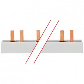 Steg Phasenschiene, 16 mm², 3-polig, L-Form, für 57 LS-Schalter ABB PRO M/COMPACT