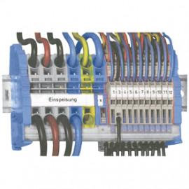 Kleinverteiler-Set, Einspeisung und Nullleiter - Wago