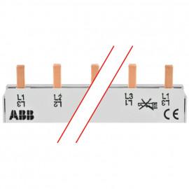 Steg Phasenschiene, 10 mm², 3-polig, L-Form, für 12 LS-Schalter