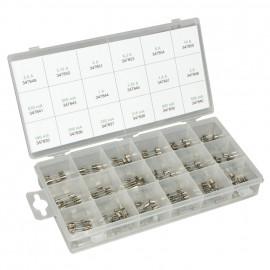 Glas Feinsicherungen Kunststoff Sortimentsbox, 250V, 5 x 20 mm Typ mittelträge