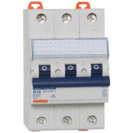 LS Leitungsschutzschalter, 3 polig, B Charakteristik Nennstrom 16A - Gewiss