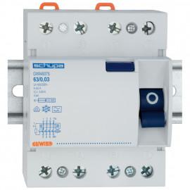 FI Schutzschalter, 4-polig, Baureihe SD-Typ A Ausführung 63A / 0,3 Breite 70 mm