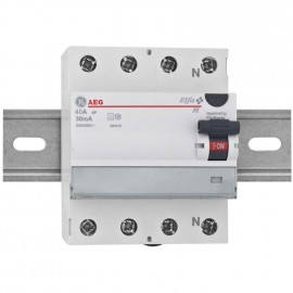 FI / LS Schutzschalter, 4-polig, 40A / 0,5 Baureihe Elfa FI - AEG