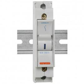 Einbaugerät, Kipp A Schalter, 1-polig 16A mit Signallampe - Gewiss
