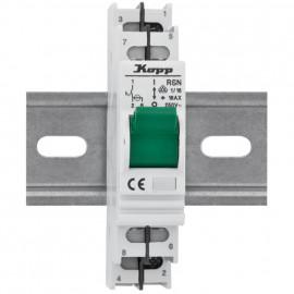 Einbaugerät, Kipp A Schalter, 16A mit Kontroll-Lampe - Kopp