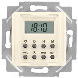 Zeitschaltuhr Kombi LCD, elektronisch, 230V / 1250-2500W / 600VA, KLEIN®-KG 55 weiß