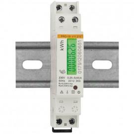 Stromzähler, für Wechselstrom, einphasig, 230V-AC/5 (45A), beglaubigt