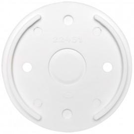 Bodenplatte, für Schalter und Steckdose, Aufputz, Duroplast weiß, THPG