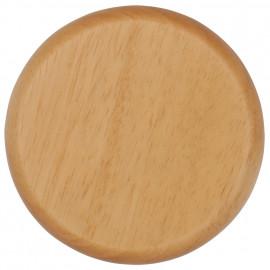 Holz Bodenplatten für Schalter und Steckdosen, 1 fach, eiche hell  Atlantis Pozellan weiß