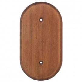 Holz Bodenplatten für Schalter und Steckdosen, 2 fach, eiche dunkel Atlantis Pozellan weiß
