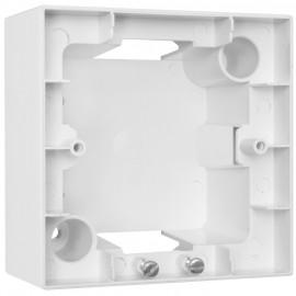 Aufputzgehäuse für Schalter, Steckdosen und Geräte, 1 fach, MERIDIAN reinweiß, Viko