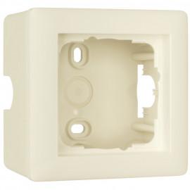 Schalterprogramm Aufputz Gehäuse für SYSTEM 55 cremeweiß glänzend, 1 fach Gira