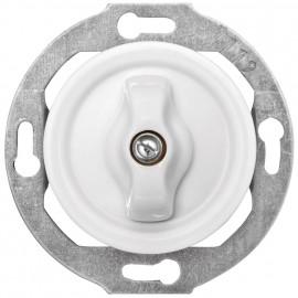 Schaltereinsatz Kombi Dreh Serien, Unterputz, 10A / 250V, Porzellan weiß, THPG