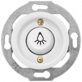 Tastereinsatz Kombi, Unterputz, mit Symbol 'Licht', 10A / 250V, Porzellan weiß, THPG