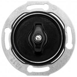 Schaltereinsatz Dreh / Serien Kombi, Unterputz 10A / 250V, Bakelit schwarz, THPG