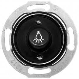 Tastereinsatz Kombi, mit Symbol 'Licht', Unterputz, 10A / 250V, Bakelit schwarz, THPG