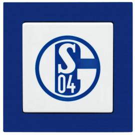 Komplettschalter, Unterputz - Wechselschalter mit Wippe FC Schalke 04