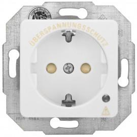 Steckdose Überspannungsschutzsteckdose, mit Zentralplatte KLEIN SI® reinweiß