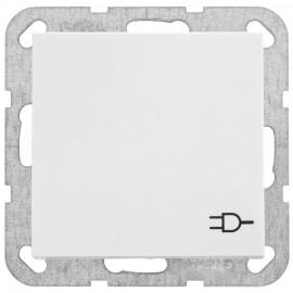 Steckdose Kombi mit Klappdeckel, SYSTEM 55 reinweiß glänzend