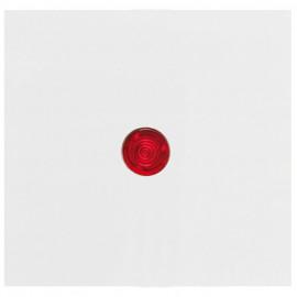 Wippe für Kontroll - Schalter, mit roter Linse, KOPP OBJEKT HK 07 reinweiß (RAL 9010)