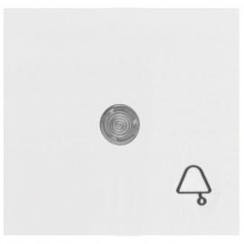 Wippe für Taster, mit Symbol 'Klingel' und klarer Linse, KOPP OBJEKT HK 07 reinweiß (RAL 9010)