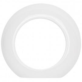 Abdeckrahmen, 1 fach, Außenteil, Porzellan weiß, THPG