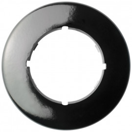 Abdeckrahmen, 1 fach, rund, Bakelit schwarz, THPG