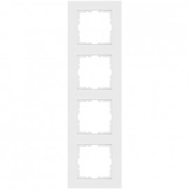 Abdeckrahmen, 4 fach, Kunststoff, KOPP OBJEKT HK 07 reinweiß (RAL 9010)