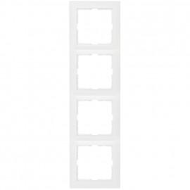 Steckdoses Abdeckrahmen, 4 fach, SERIE S.1 polarweiß glänzend