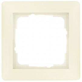 Schaltereinsatz Abdeckrahmen, 1-fach SYSTEM 55 cremeweiß glänzend Gira