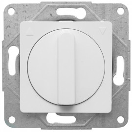 Jalousieschalter Kombi, mit Zentralplatte 50 x 50 mm, MERIDIAN reinweiß, Viko