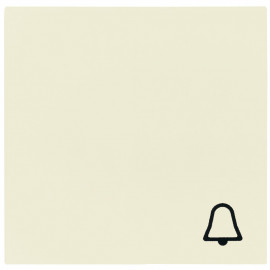 Schaltereinsatz Wippe für Taster Klingel, SYSTEM 55 cremeweiß glänzend