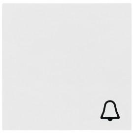 Schaltereinsatz Wippe für Taster Klingel, SYSTEM 55 reinweiß glänzend