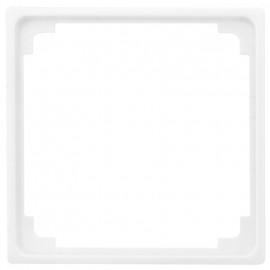 Adapterrahmen für Fremdgeräte  Zentralplatte 50 x 50 mm, SERIE AS alpinweiß glänzend