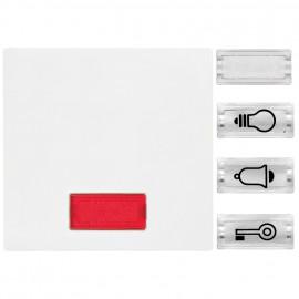 Schalterwippe, Kontroll + Taster, System M, polarweiß, glänzend, Merten