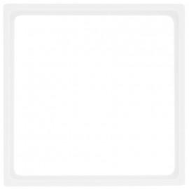 Zwischenrahmen, 50 x 50, System M, polarweiß glänzend, Merten