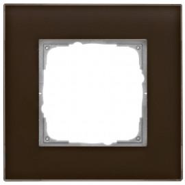 Schaltereinsatz Abdeckrahmen, 1 fach, Glas klar / umbra, KLEIN® K55