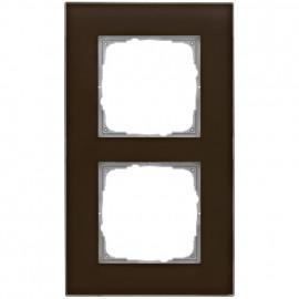 Schaltereinsatz Abdeckrahmen, 2 fach, Glas klar / umbra, KLEIN® K55